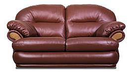 Двомісний диван Orlando, нерозкладний диван, м'який диван, меблі з шкіри, диван