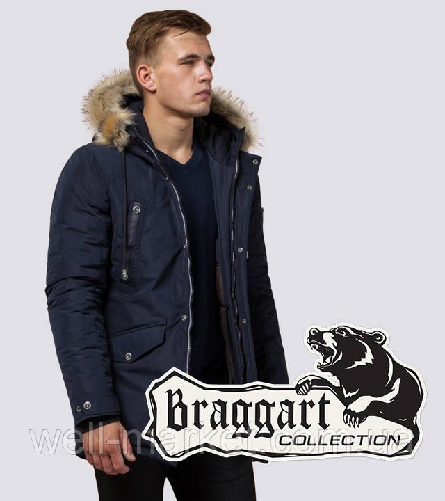 Braggart Dress Code 27830 | Парка мужская с опушкой синяя