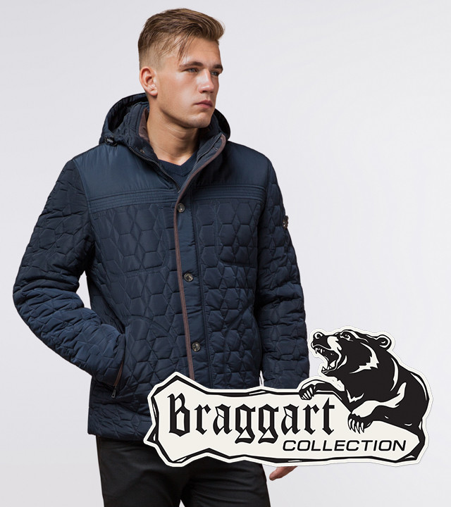 Braggart Dress Code 3570 | Зимняя куртка св.синий-коричневый