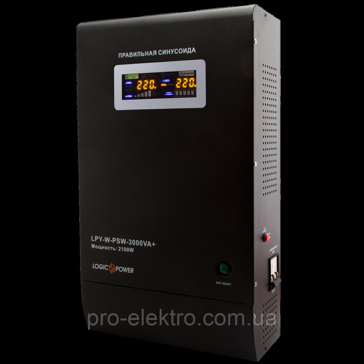 Уценка ИБП Logicpower LPY-W-PSW-3000VA+(2100Вт)10A/15A с правильной синусоидой 48В