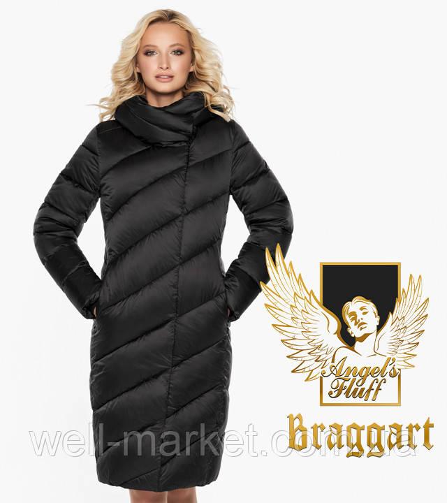 Воздуховик Braggart Angel's Fluff 30952 | Длинная женская куртка черная