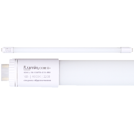 Светодиодная лампа-трубка Ilumia 16Вт, цоколь G13, 1200мм, 4000К (нейтральный белый), 1600Лм (020), фото 2