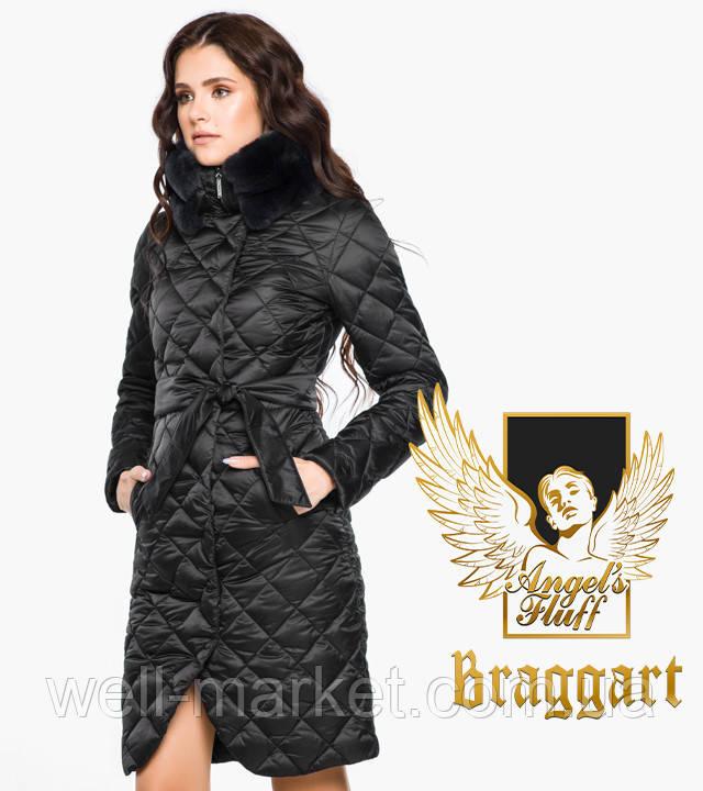 Воздуховик Braggart Angel's Fluff 31030   Женская зимняя куртка черная