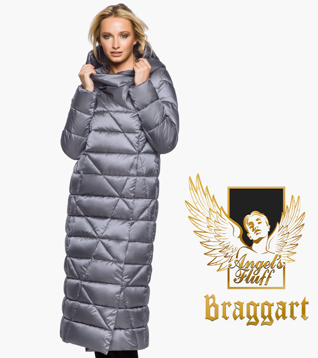 Воздуховик Braggart Angel's Fluff 31058 | Зимняя женская куртка жемчужно-серая