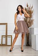 Женское коктейльное платье с пышной юбкой, фото 1