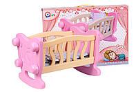 Іграшкове ліжечко-колиска для ляльок, Україна, фото 1