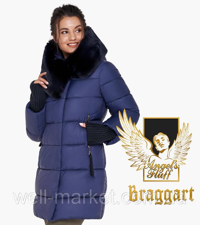 Воздуховик Braggart Angel's Fluff 31027| Зимняя теплая женская куртка синяя