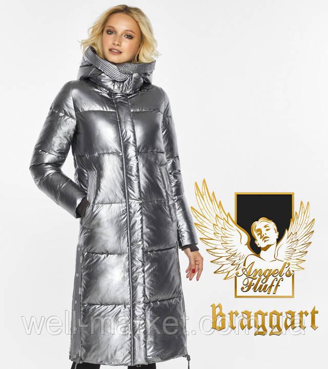 Воздуховик Braggart Angel's Fluff 42650| Зимняя куртка женская цвет серебро