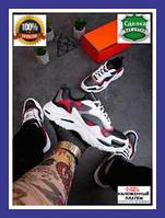 Мужские кроссовки Крос Тач (белые с вставками)