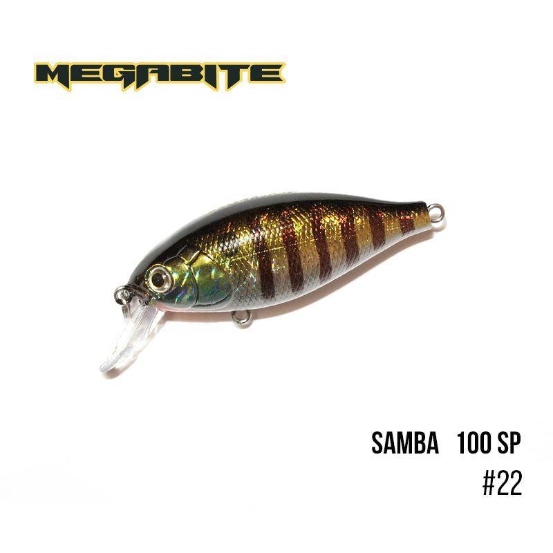""""""".Воблер Megabite  Samba 100 SP (60 мм, 14,8 гр, 1 m) (22)"""