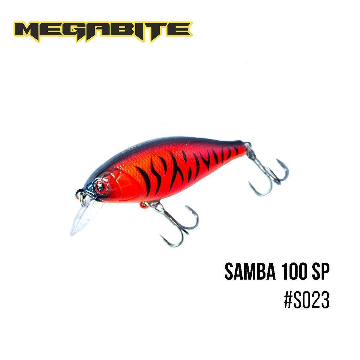 """"""".Воблер Megabite  Samba 100 SP (60 мм, 14,8 гр, 1 m) (S023)"""