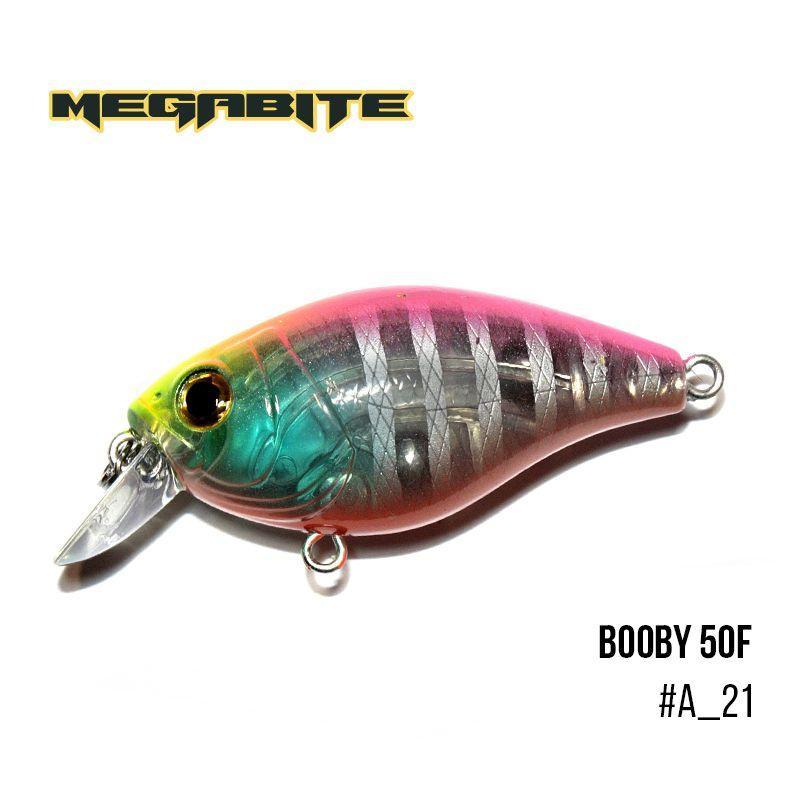 """"""".Воблер Megabite  Booby 50 F (50 мм, 9,4 гр, 0.7 m) (A_21)"""