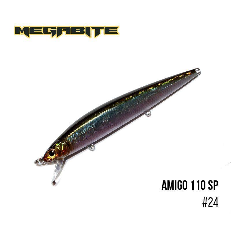 """"""".Воблер Megabite  Amigo 110 SP (110 мм, 14,3 гр, 1,0 m) (24)"""