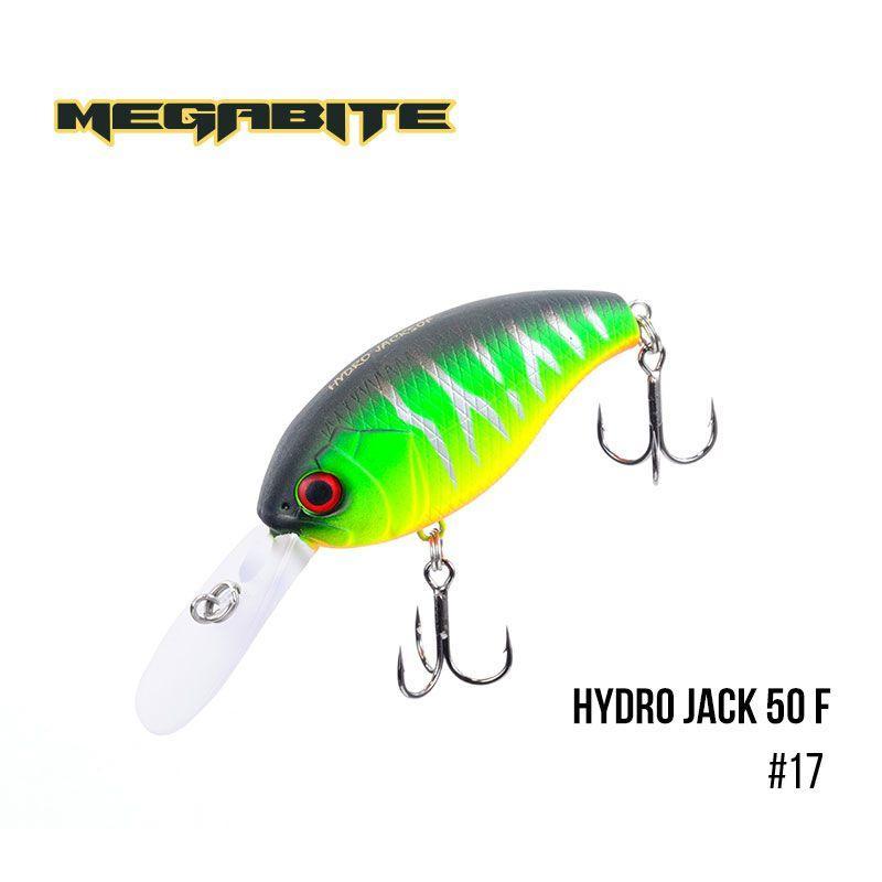 """"""".Воблер Megabite  Hydro Jack 50 F (50 мм,  9,01гр,  3m) (17)"""