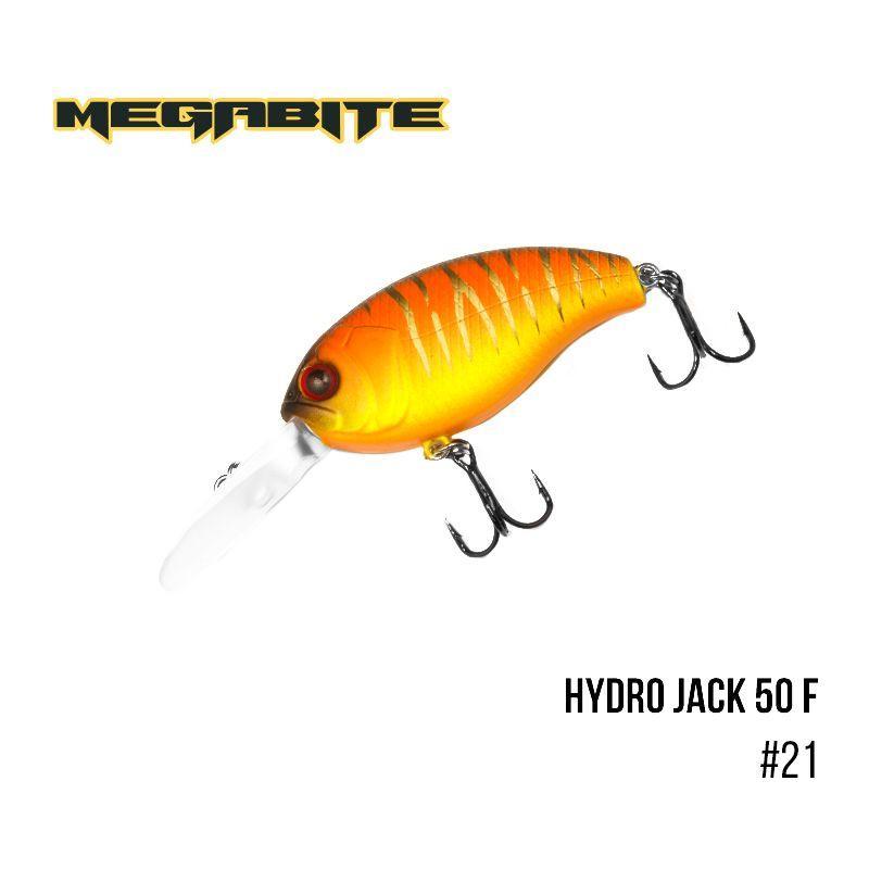 """"""".Воблер Megabite  Hydro Jack 50 F (50 мм,  9,01гр,  3m) (21)"""
