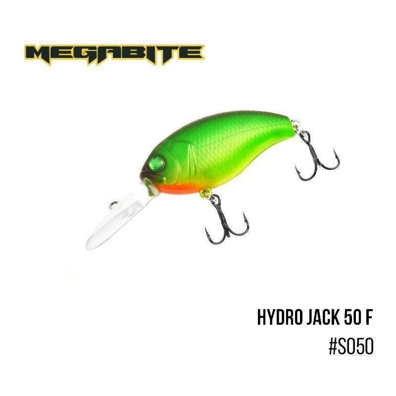 Воблер Megabite  Hydro Jack 50 F (50 мм,  9,01гр,  3m) (S050)