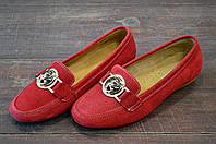 Красные мокасины женские замшевые AllShoes на каждый день, фото 1