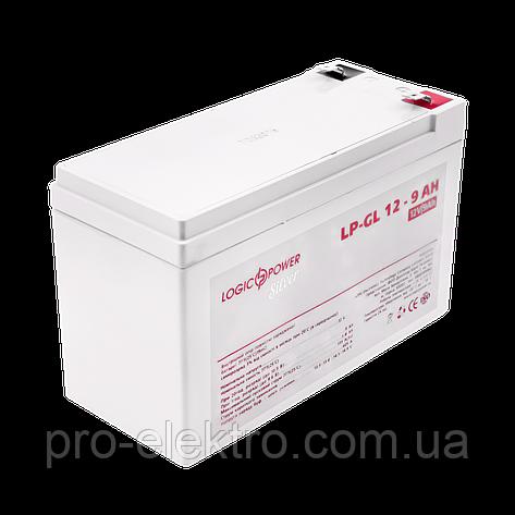 Аккумулятор гелевый LogicPower LP-GL 12 - 9 AH SILVER, фото 2