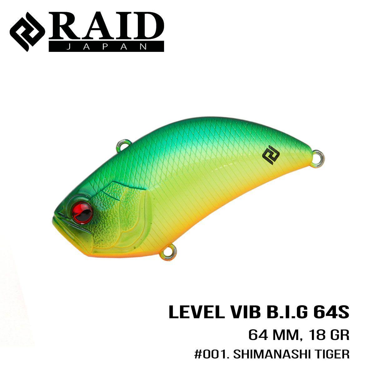 Воблер Raid Level Vib B.I.G. (64mm, 18g) (001 Shimanashi Tiger)