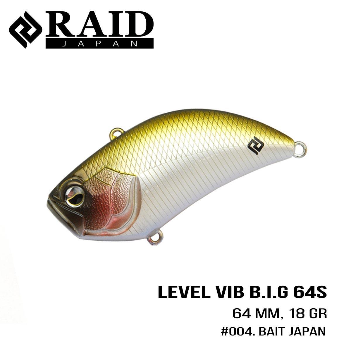 Воблер Raid Level Vib B.I.G. (64mm, 18g) (004 Bait Japan)
