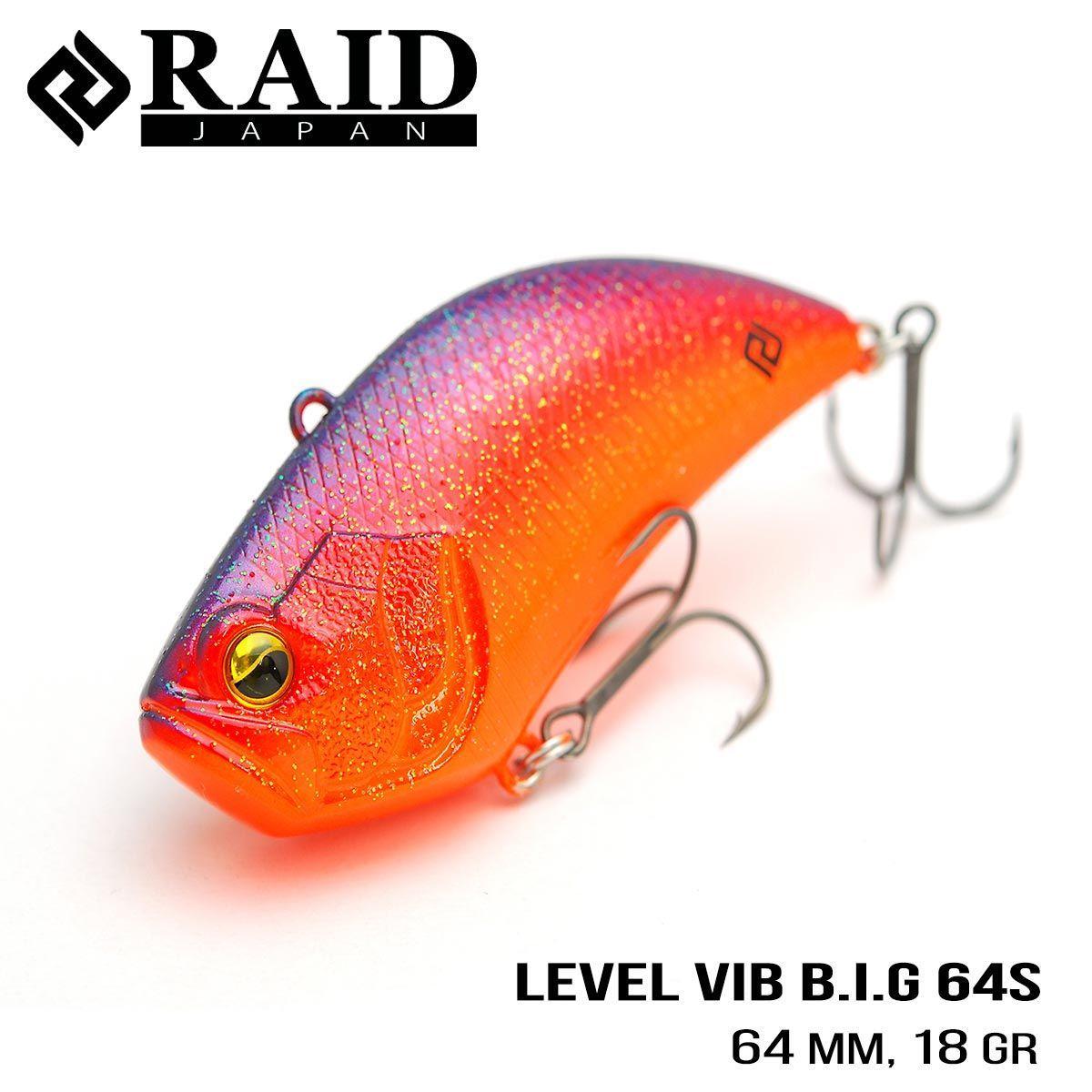 Воблер Raid Level Vib B.I.G. (64mm, 18g) (013 Skeleton)