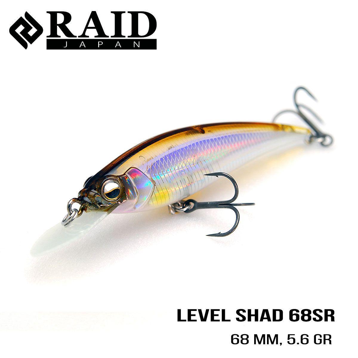 Воблер Raid Level Shad Sprinter 68SR (68mm, 5.6g) (009 Real Kinkuro)