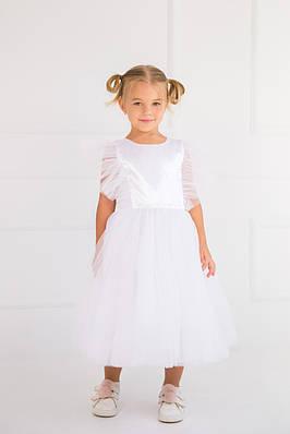 Нарядное платье с перышками Белое