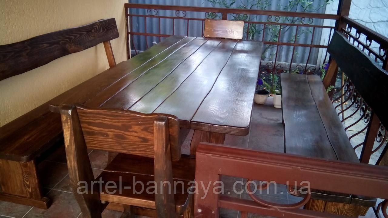 Деревянная мебель для беседок и мангалов в Житомире от производителя