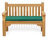 Лавочка скамья со спинкой 1200 х 690 мм от производителя Garden park bench 04, фото 3