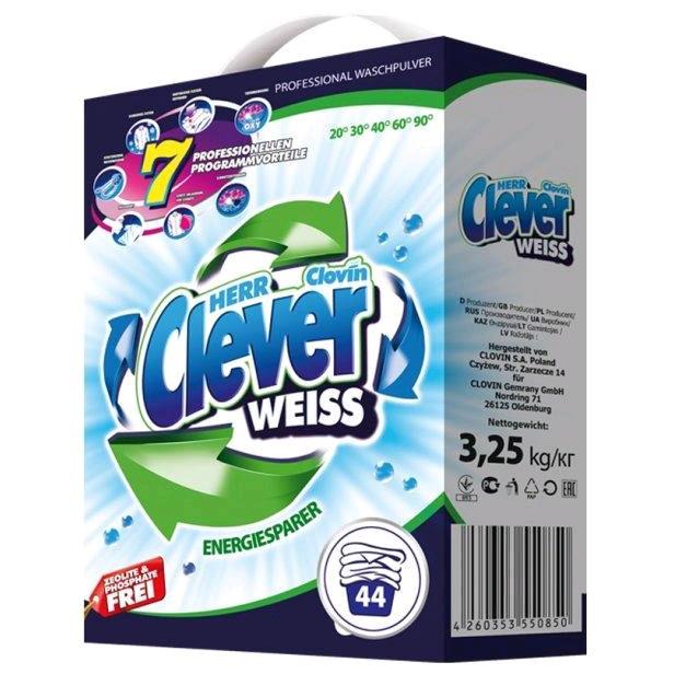 Стиральный порошок для белых тканей Clever Weiss 3.25 кг