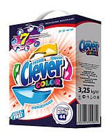 Стиральный порошок для цветных тканей Clever Color 3.25 кг