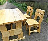 Садовая мебель из массива дерева 3000х1200 от производителя для дачи, ресторанов, комплект Furniture set - 22, фото 8