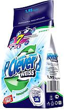 Стиральный порошок для белых тканей Clever Weiss 1,95 кг