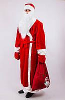Карнавальный костюм Деда Мороза для взрослого красный