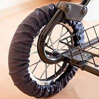 Ozendik Чехол на колесо для коляски  черный р.S (спандекс)