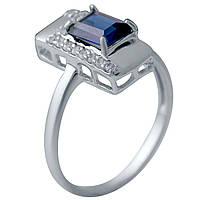 Серебряное кольцо DreamJewelry с сапфиром nano (2029632) 18 размер, фото 1