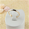 Обручальное кольцо 3 mm Ювелирная бижутерия 18k Размер 15.5