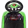 Детский электромобиль-толокар 2 в 1 трансформер с родительской ручкой , M 4290 зеленый, фото 9