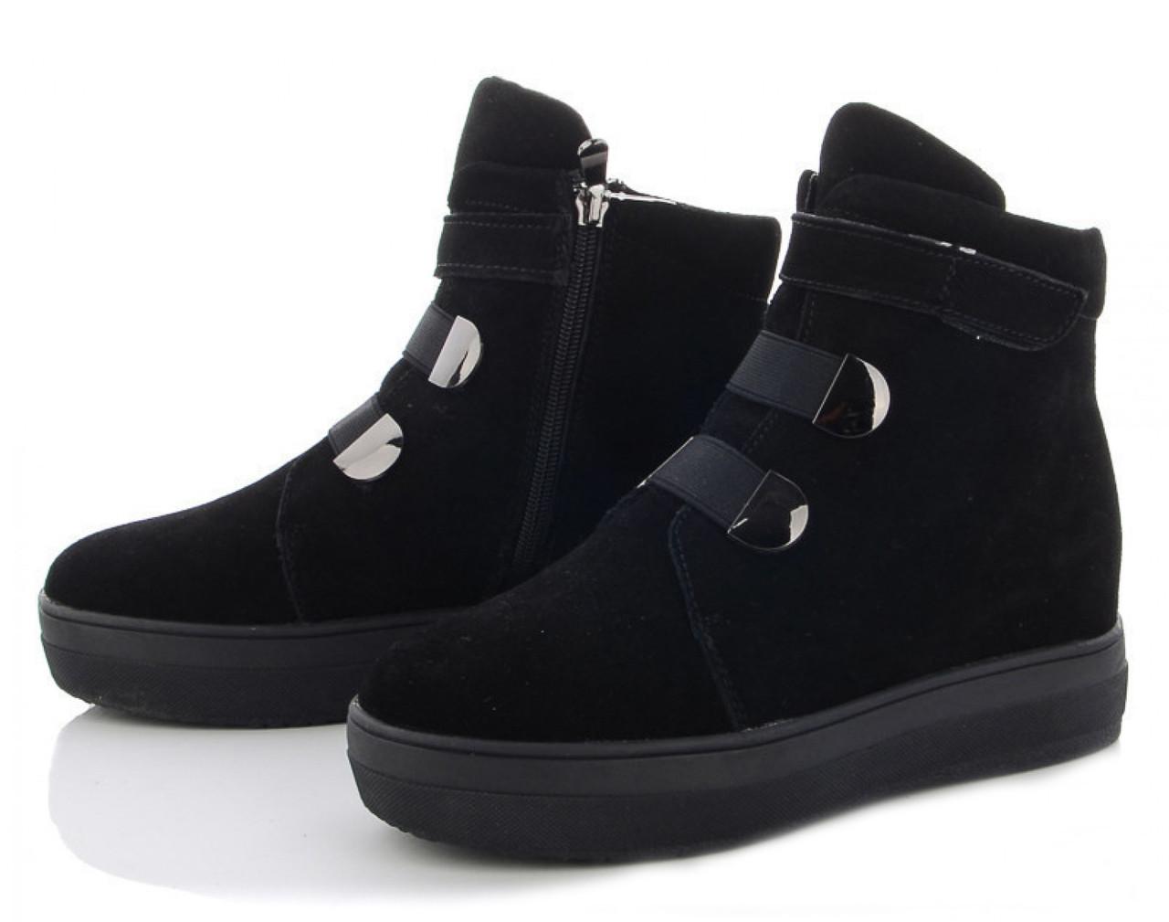 Жіночі зимові черевики BR-S натуральна замша чорні 38 р. - 24,5 см 1258098154