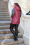 Женская жилетка Плащевка на синтепоне Размер 48 50 52 54 56 58 60 62 Разные цвета, фото 10