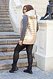 Женская жилетка Плащевка на синтепоне Размер 48 50 52 54 56 58 60 62 Разные цвета, фото 9