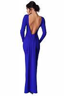 Вечернее длинное платье в синем цвете