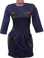 Молодежное приталенное платье (в расцветках), фото 1