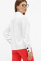 Белая стильная блуза с длинным рукавом со стойкой размер 44-50, фото 2
