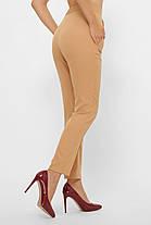 Бежевые брюки с высокой посадкой размер 44-50, фото 2