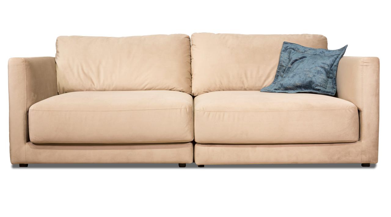 Мягкий кожаный диван Конкорд