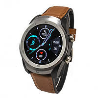 Смарт-часы NO.1 DT79 Black Leather Band Brown