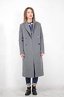 Пальто двубортное длинное oversizе