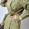 Женский тренч под пояс 48-50, 52-54, 56-58, 60-62, фото 9