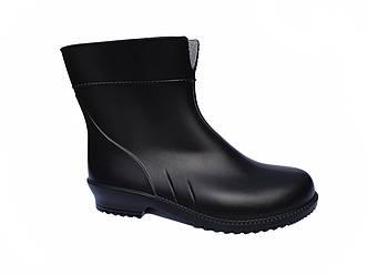 Гумові чоботи жіночі чорні демісезонні